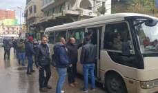الجديد: انطلاق باصات تقل محتجين من طرابلس للاعتصام امام منزل دياب