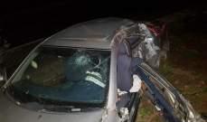 جريح جراء حادث سير على اوتوستراد بصرما- الكورة