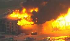 حريق ضخم في مجمع سكني في هيوستن بالولايات المتحدة