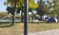 النشرة: قوة من الجيش تزيل خيم المتظاهرين عند دوار زحلة في هذه الاثناء