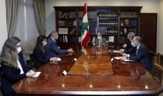 الرئيس عون خلا لقائه كوبيتش: نأمل في الوصول لاتفاق يحفظ حقوق لبنان السيادية