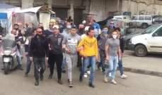 محتجون امام سرايا طرابلس للمطالبة بمساعدات فرقهم الجيش