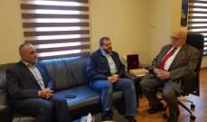 وفد من حزب الله يزور السعودي ورؤساء بلديات منطقة صيدا مهنئا بالمولد النبوي