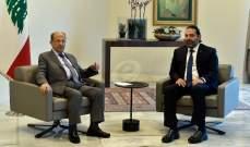 الرئيس عون اتصل بالحريري وعرض معه التطورات وتقرر عقد جلسة الحكومة غدا ببعبدا