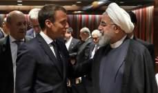 روحاني يدعو ماكرون للضغط على واشنطن من أجل رفع العقوبات