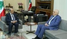 الرئيس عون التقى جبق وعرض معه لواقع القطاع الصحي والاستشفائي في لبنان