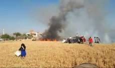 النشرة: حريقبحقل قمح ببلدة المرج نتيجة اطلاق النار ابتهاجا بنتائج الامتحانات