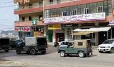 دوريات للجيش ولشرطة اتحاد بلديات الضنية للتأكد من الالتزام بالإقفال