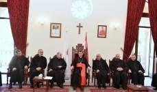 البطريرك الراعي يستقبل مجلس الرئاسة العامة الجديد لجمعية المرسلين اللبنانيين الموارنة