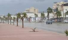 توقف حركة الملاحة في مرفأ صيدا بسبب الامطار الغزيرة