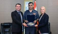 عثمان استقبل المدير الإقليمي للوكالة الوطنية البريطانية لمكافحة الجريمة