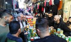 قائد القوة المشتركة الفلسطينية يجول في عين الحلوة ويتفقد المشاريع الإنمائية