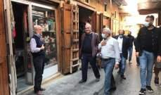 سعد جال بصيدا القديمة واستمع للأهالي: لتصعيد النضال بوجه منظومة الفساد