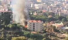 حريق في محيط المباني السكنية بالمعاملتين وفرق الإطفاء توجهت للمكان