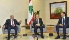 الجمهورية:اللقاء الثلاثي إيجابي والحريري أكد لعون تشكيل حكومة من 20 وزيراً من الاختصاصيين
