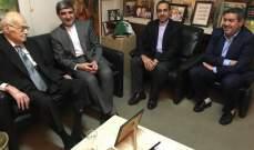 الحص استقبل السفير الايراني للتعارف وبحثا في الاوضاع محليا وإقليميا