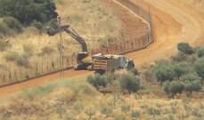 النشرة:الجيش الاسرائيلي يقيم أشغال تأهيل الطريق العسكري المحاذي للسياج الحدودي