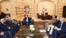 """وفد من """"قدماء القوى المسلحة"""" زار الحريري: وعدنا بالمحافظة على حقوق المتقاعدين"""