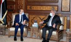 المشرفية اختتم زيارته إلى سوريا بلقاء وزير الداخلية: لمسنا تسهيلات كبيرة من الجانب السوري لعودة النازحين