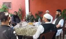 """اللواء منير المقدح يلتقي قيادة """"عصبة الانصار الاسلامية"""" في مخيم عين الحلوة"""