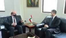 وهبة التقى كيجيان مودعا: نتمنى أن يحظى لبنان بعناية الصين اقتصاديا وسياسيا
