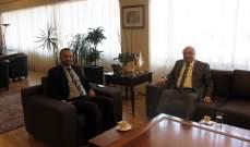 وزير الثقافة التقى الحجار وعرض معه وضع المواقع الاثرية في اقليم الخرو