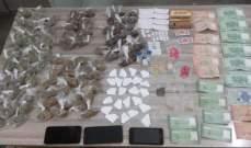 قوى الأمن: توقيف 3 مروجي مخدرات في محافظتي بيروت والجنوب وضبط كمية منها