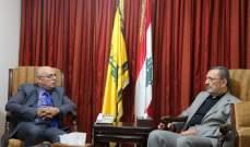 ابو سعيد التقى مسؤول العلاقات العربية في حزب الله