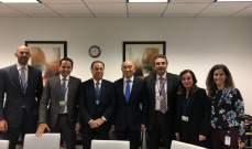 بطيش أنهى زيارته الى واشنطن بسلسلة لقاءات مع صندوق النقد الدولي
