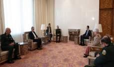 رئيس الأركان القوات المسلحة الإيراني يلتقي الأسد في دمشق