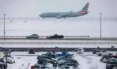 إلغاء أكثر من 3000 رحلة في شمال شرق الولايات المتحدة بسبب الثلوج