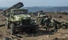 المرصد السوري: قوات النظام السوري جددت قصفها البري على بلدات في سهل الغاب وجبل الزاوية