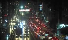 التحكم المروري: تصادم بين سيارتين على جسر انطلياس المسلك الشرقي