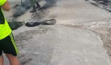 طريق الشويفات خلده مقطوعة في اكثر من نقطة قرب محطة المشرفية