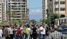 اعتصام امام قصر عدل طرابلس ومطالبة باطلاق الناشط ربيع الزين