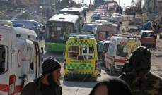 خروج عدد من قادة المسلحين بسياراتهم من أحياء حلب الشرقية ضمن الدفعة الثالثة