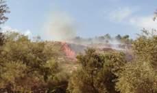اندلاع حريق في منطقة تل النحاس خراج بلدة برج الملوك قضاء مرجعيون
