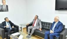 باسيل بحث مع طرابلسي الأوضاع العامة ومساعي حل العقدة الحكومية