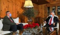 فرنجية وكوبيش تداولا بموضوع تشكيل الحكومة والأوضاع الاقتصادية والاجتماعية الراهنة