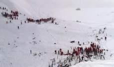 انهيار ثلجي طمر متزلجين في جبال الالب ومحاولات لإنقاذ العشرات