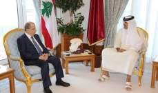 الرئيس عون اتصل بأمير قطر وناقشا الأوضاع بلبنان وآخر المستجدات واستعرضا العلاقات الثنائية