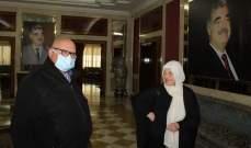 بهية الحريري التقت السعودي ونوهت بالتكافل الصيداوي بمواجهة أزمة كورونا