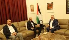 دبور التقى مسؤول في حماس وبحث معه الاوضاع الفلسطينية العامة
