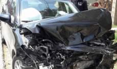 جريحان نتيجة تصادم بين 3 سيارات على طريق عام بلدة طيردبا- قضاء صور