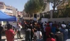 محتجون نصبوا خيمتين قرب مدخل محافظة بعلبك احتجاجا على تردي الأوضاع