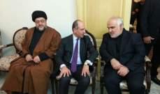 بيار أبو عاصي قدم التعازي للسفير الايراني بوفاة رفسنجاني