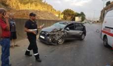 جريحان نتيجة تصادم بين سيارتين على طريق عام شحور في صور