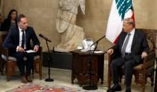 الرئيس عون: لبنان ماض في إجراء الاصلاحات الضرورية ومكافحة الفساد والتحقيق الجنائي