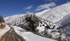 النشرة: طريق راشيا الوادي شبعا- عين عطا مقفلة بسبب تكون طبقة من الجليد