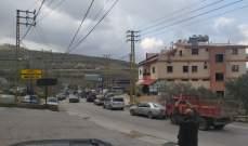 النشرة: محتجون قطعوا طريق الحاصباني مرجعيون احتجاجا على ارتفاع سعر الدولار